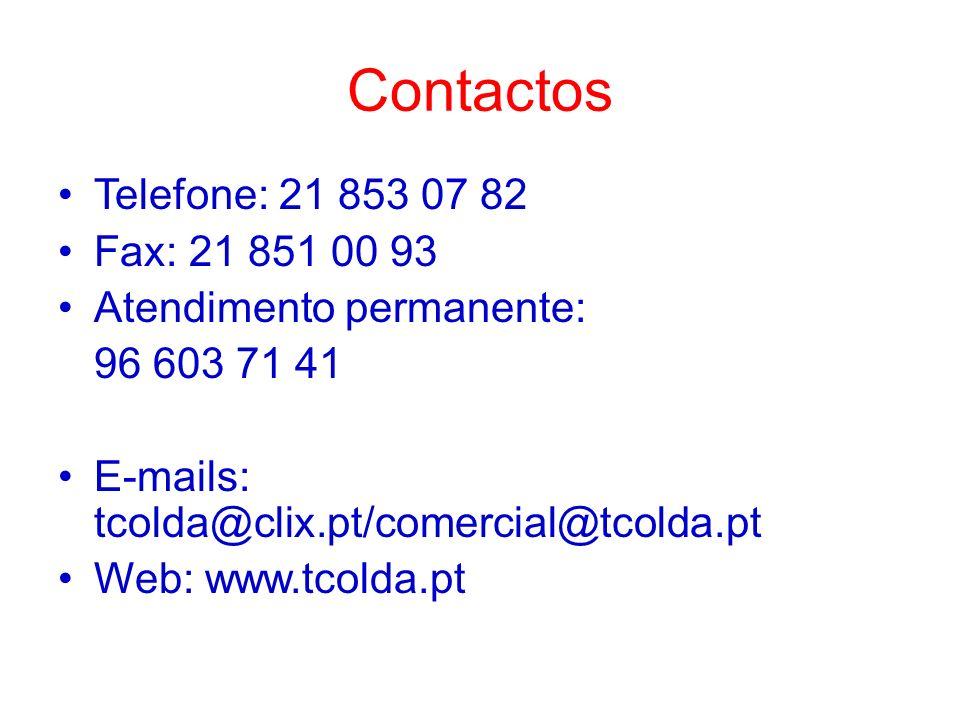 Contactos Telefone: 21 853 07 82 Fax: 21 851 00 93