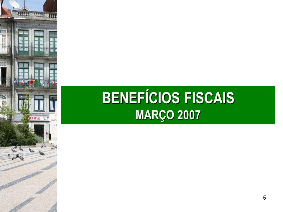 BENEFÍCIOS FISCAIS MARÇO 2007