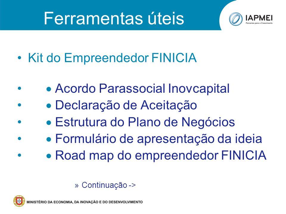 Ferramentas úteis Kit do Empreendedor FINICIA
