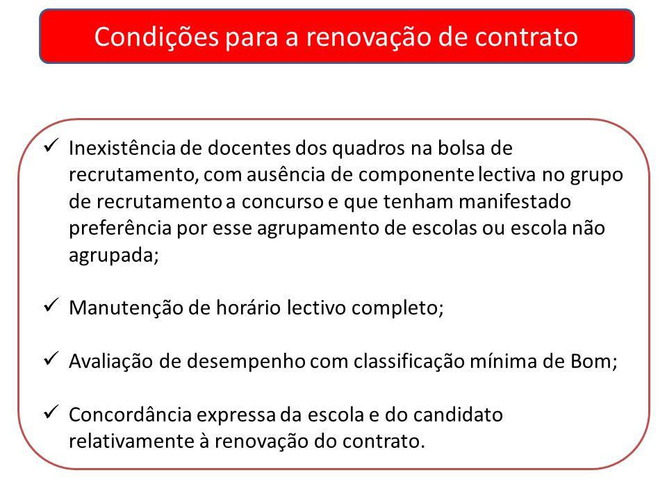 Condições para a renovação de contrato