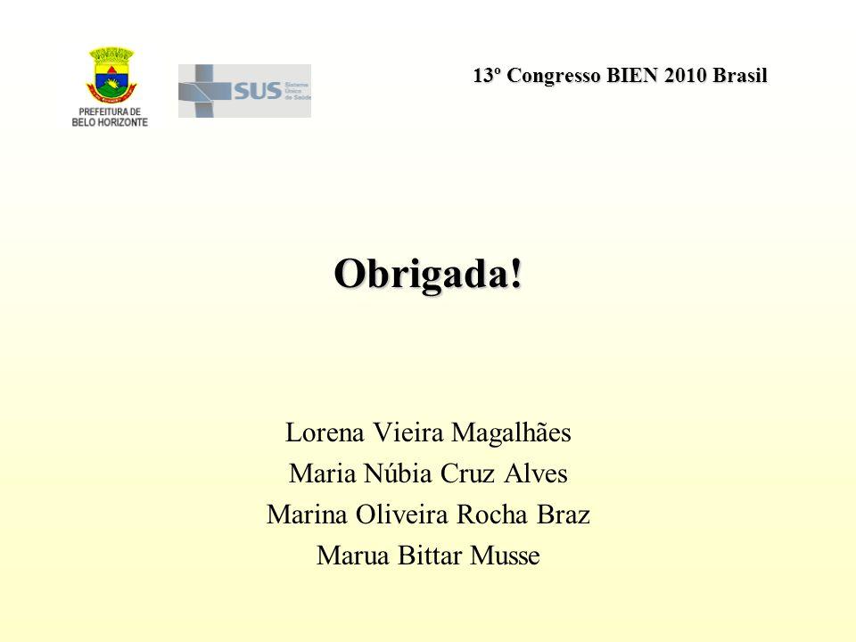Obrigada! Lorena Vieira Magalhães Maria Núbia Cruz Alves