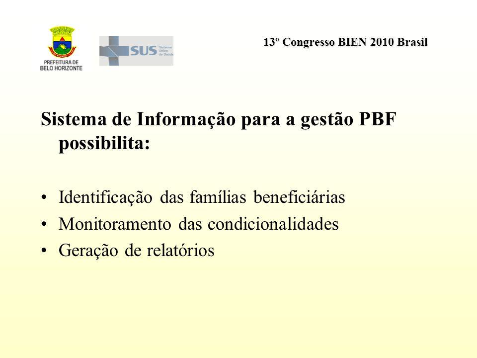 Sistema de Informação para a gestão PBF possibilita: