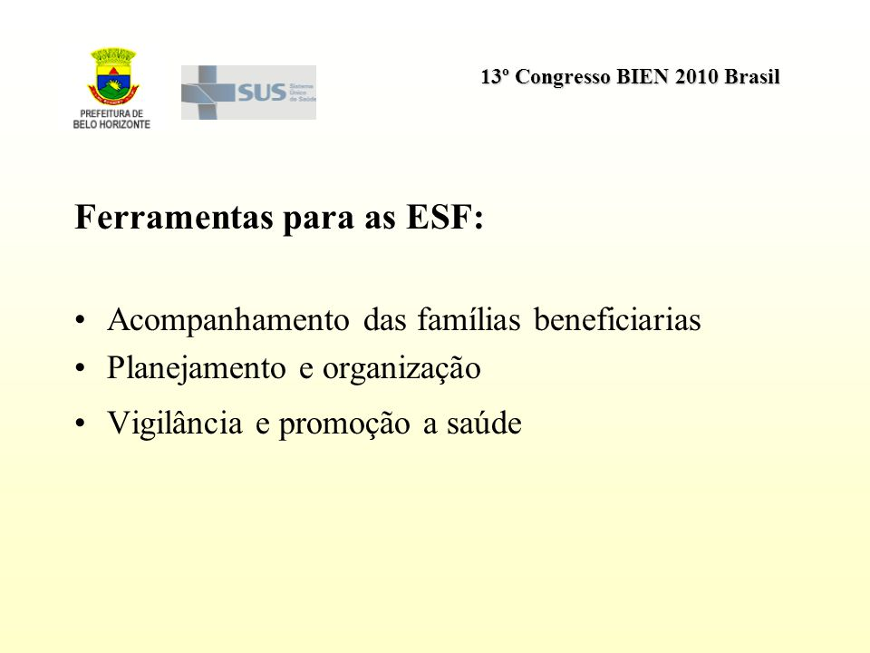 Ferramentas para as ESF: