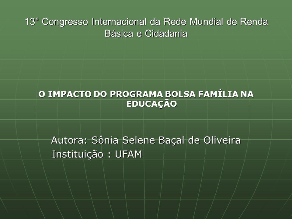 O IMPACTO DO PROGRAMA BOLSA FAMÍLIA NA EDUCAÇÃO