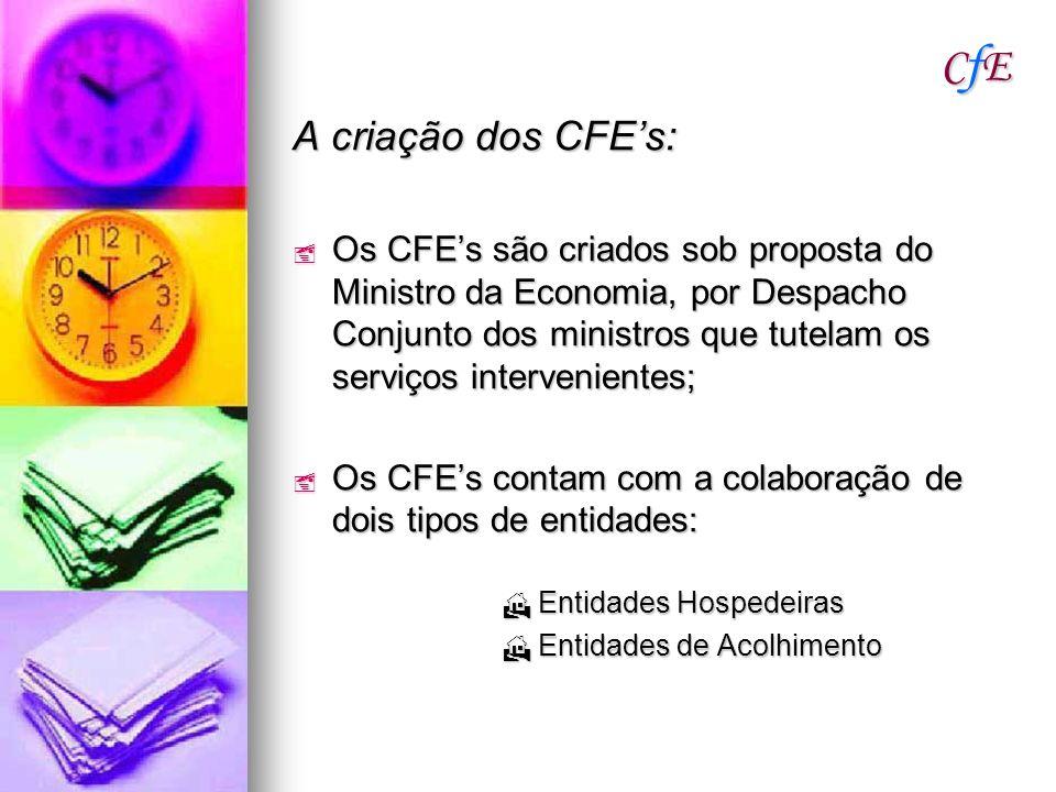 CfE A criação dos CFE's: