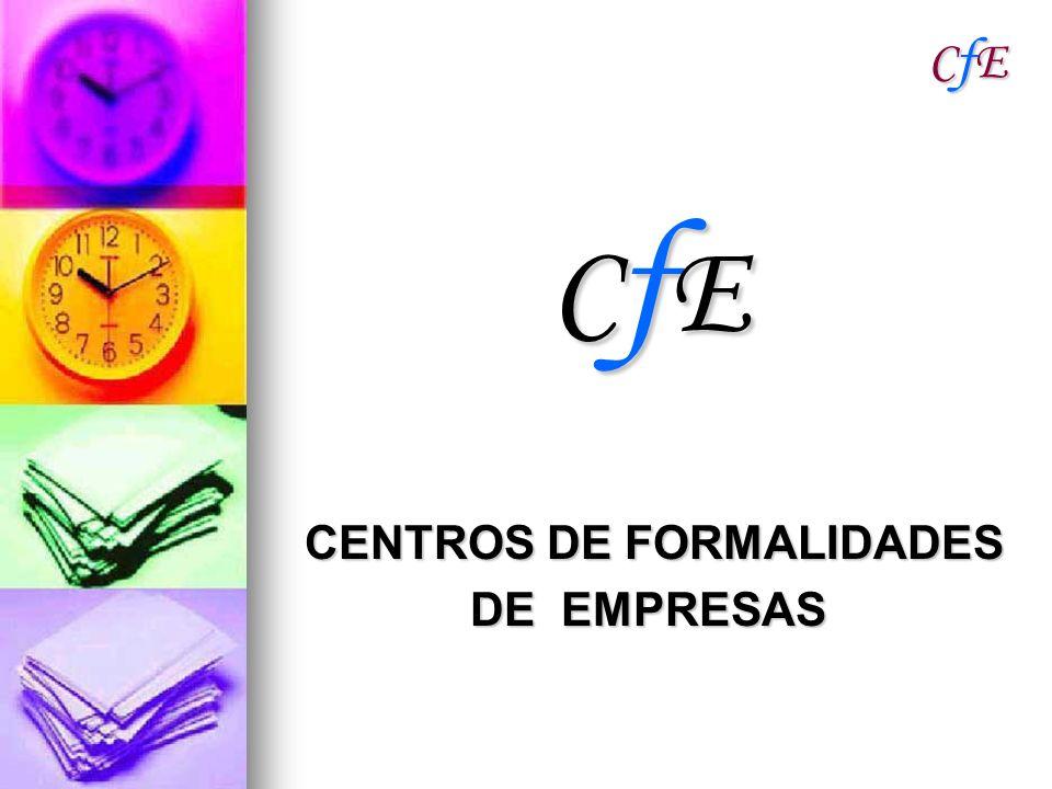 CENTROS DE FORMALIDADES