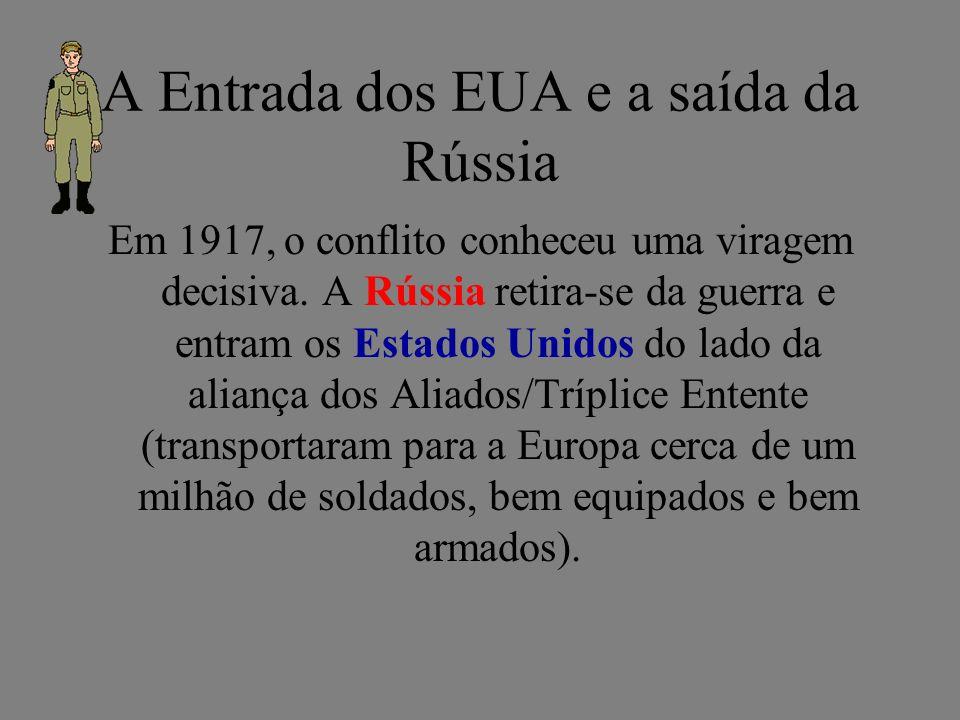 A Entrada dos EUA e a saída da Rússia
