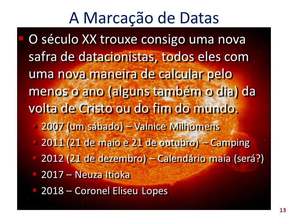 A Marcação de Datas