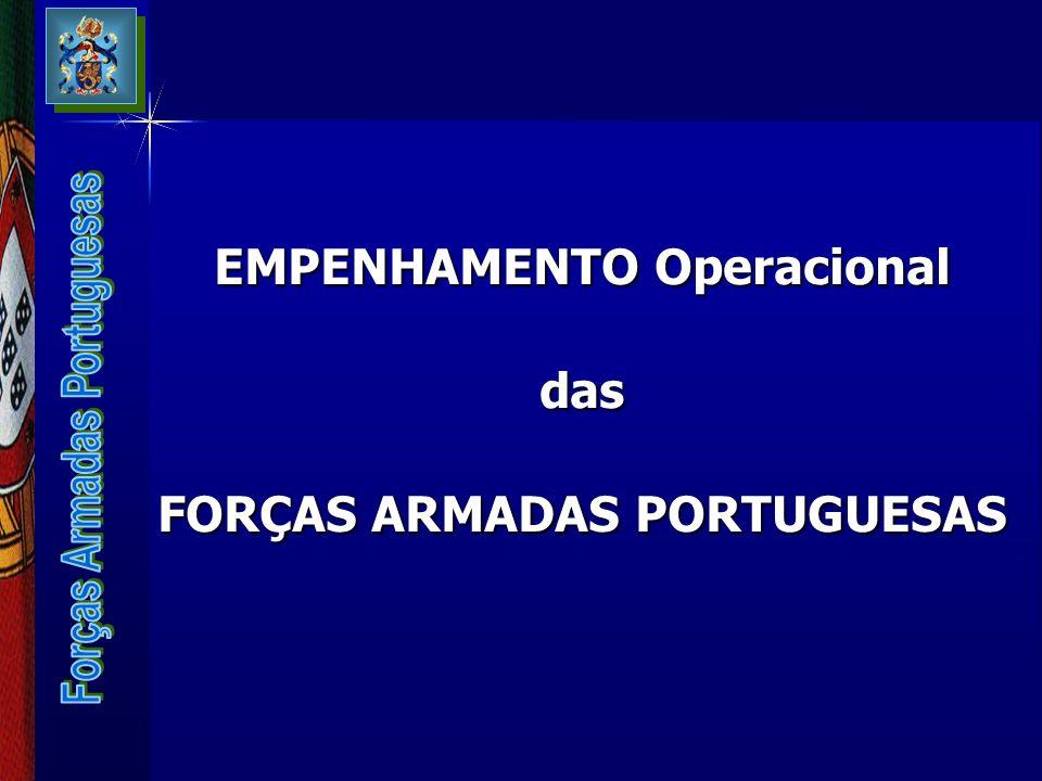 EMPENHAMENTO Operacional FORÇAS ARMADAS PORTUGUESAS