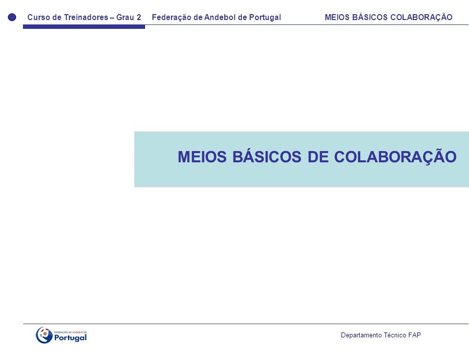 MEIOS BÁSICOS DE COLABORAÇÃO