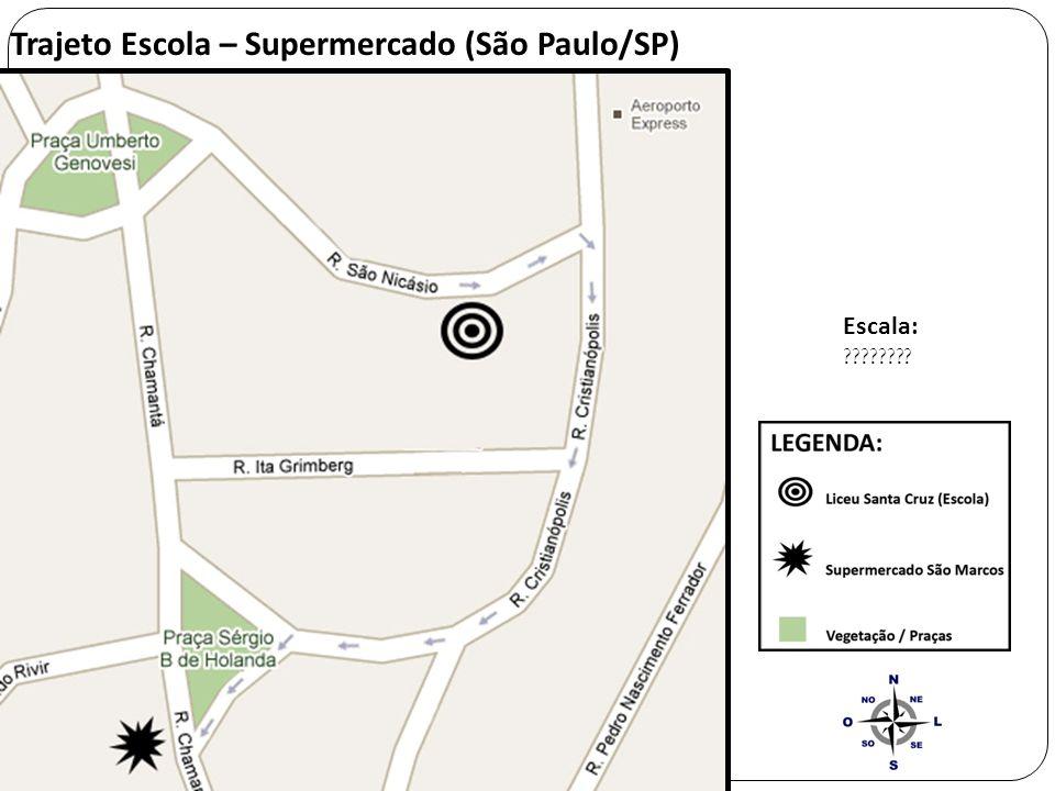 Trajeto Escola – Supermercado (São Paulo/SP)