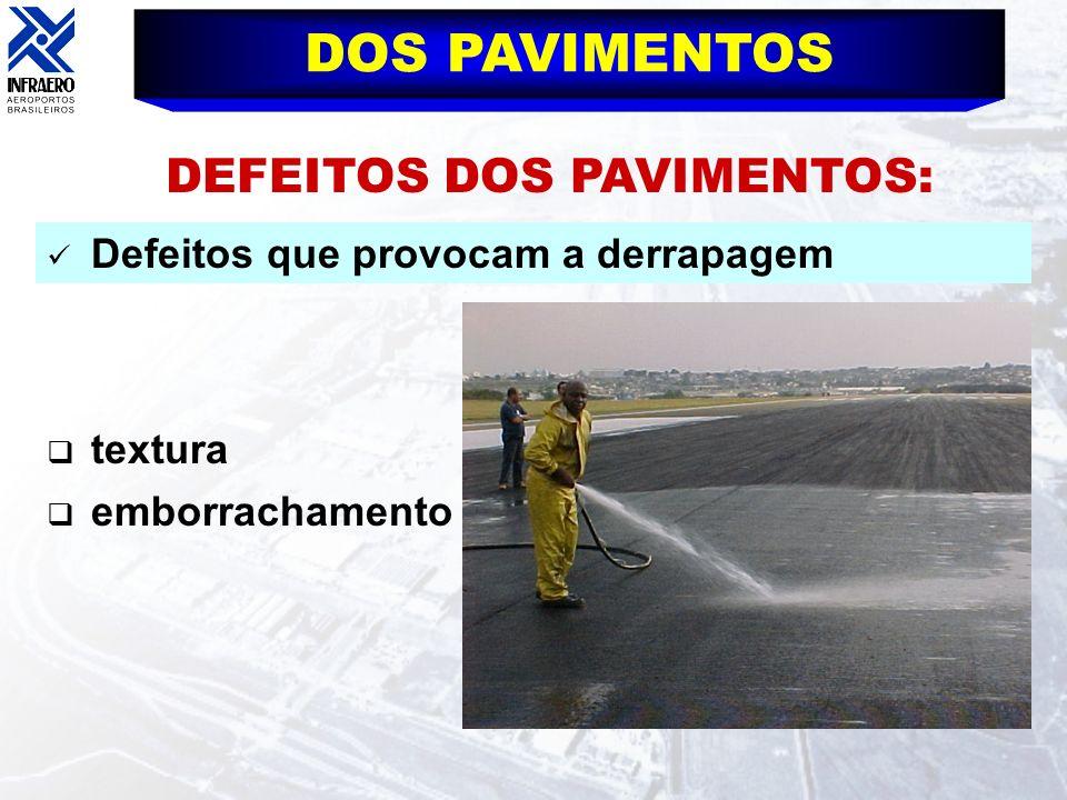 DEFEITOS DOS PAVIMENTOS: