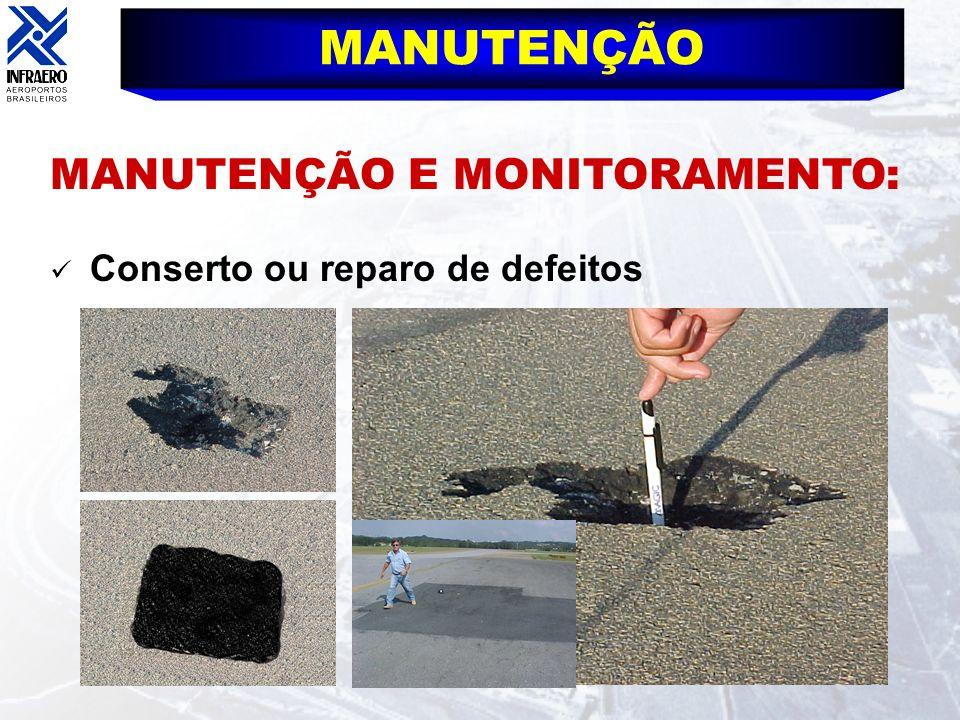 MANUTENÇÃO MANUTENÇÃO E MONITORAMENTO: Conserto ou reparo de defeitos