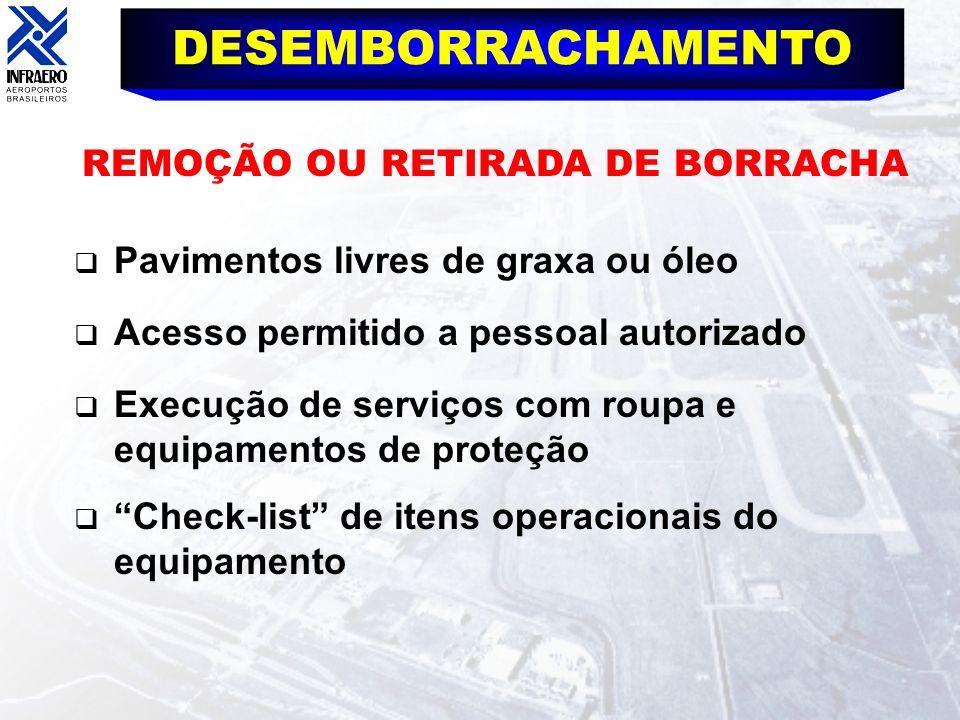 DESEMBORRACHAMENTO REMOÇÃO OU RETIRADA DE BORRACHA