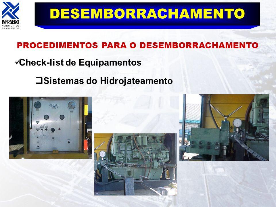 DESEMBORRACHAMENTO Check-list de Equipamentos