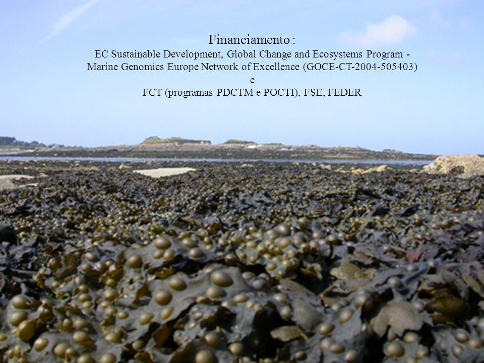 Financiamento :EC Sustainable Development, Global Change and Ecosystems Program - Marine Genomics Europe Network of Excellence (GOCE-CT-2004-505403)