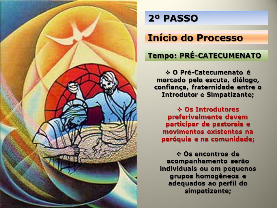 2º PASSO Início do Processo Tempo: PRÉ-CATECUMENATO