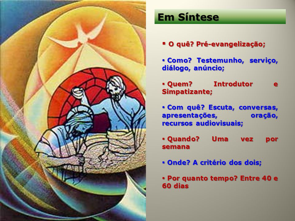 Em Síntese O quê Pré-evangelização;