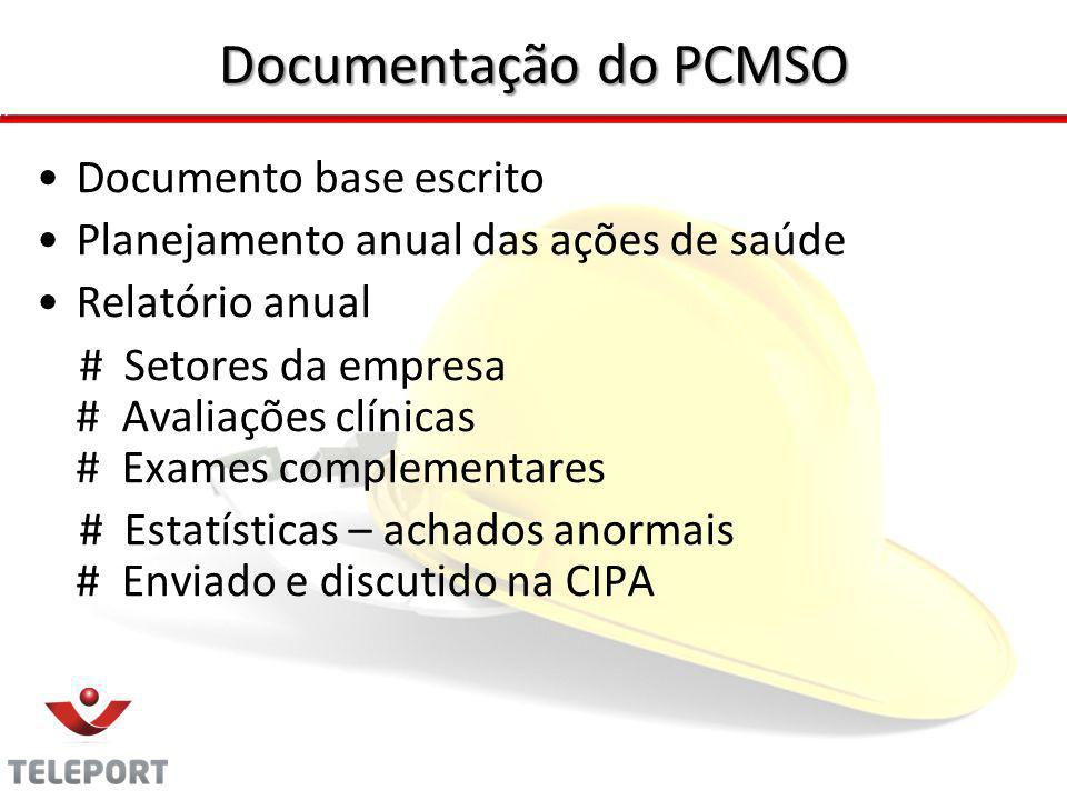 Documentação do PCMSO Documento base escrito
