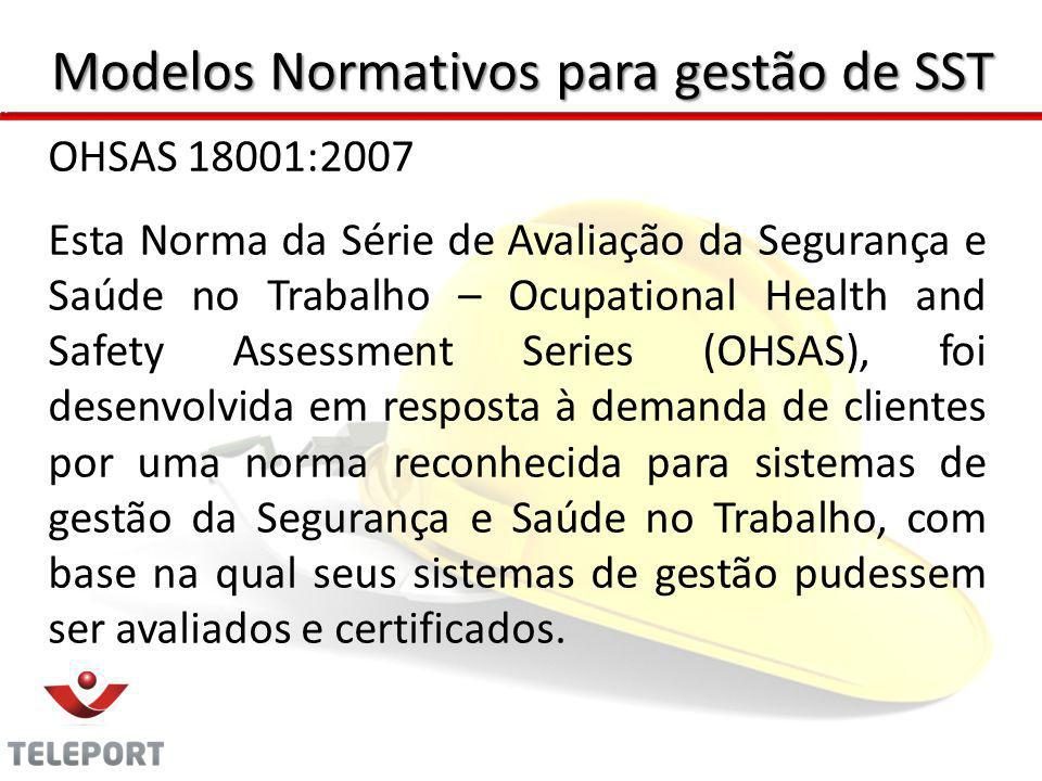 Modelos Normativos para gestão de SST