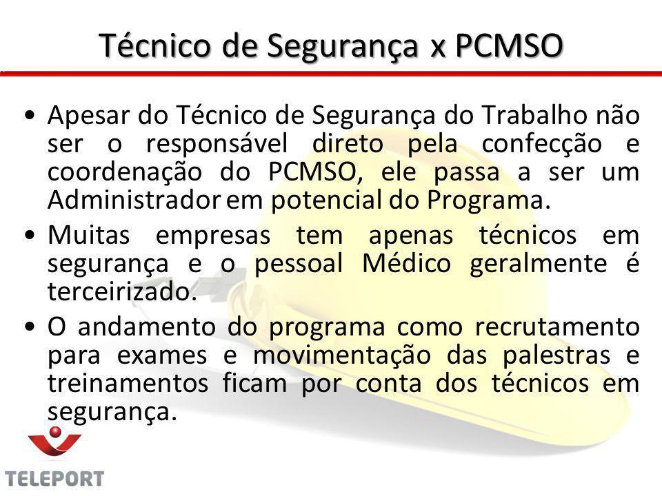 Técnico de Segurança x PCMSO