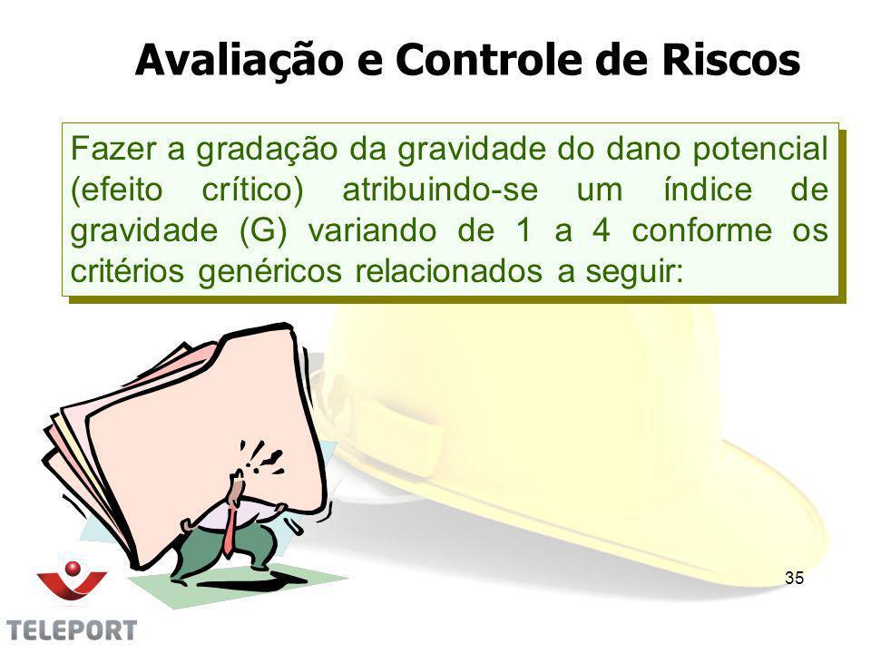 Avaliação e Controle de Riscos