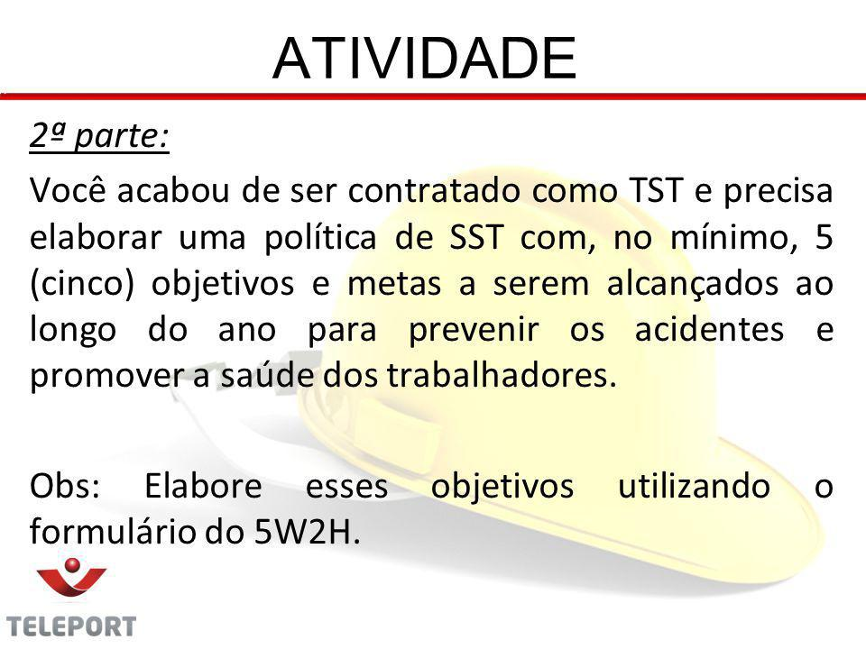 ATIVIDADE 2ª parte: