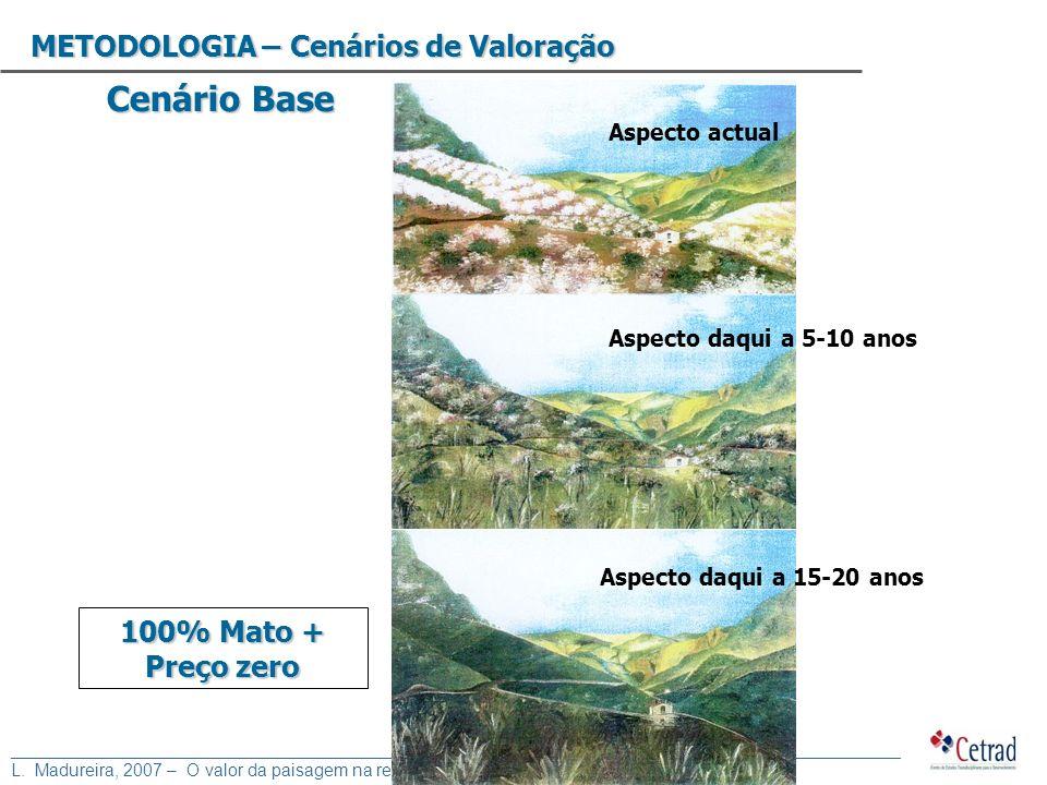 Cenário Base METODOLOGIA – Cenários de Valoração