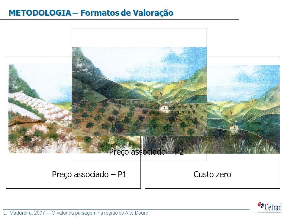 METODOLOGIA – Formatos de Valoração