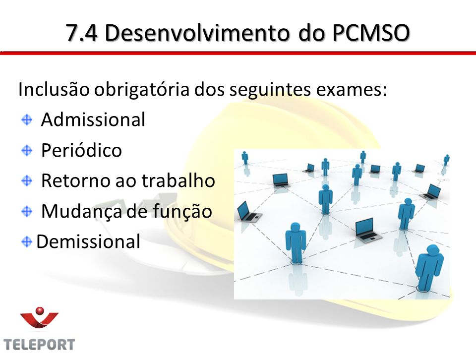7.4 Desenvolvimento do PCMSO