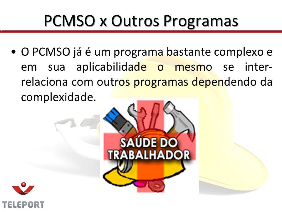 PCMSO x Outros Programas