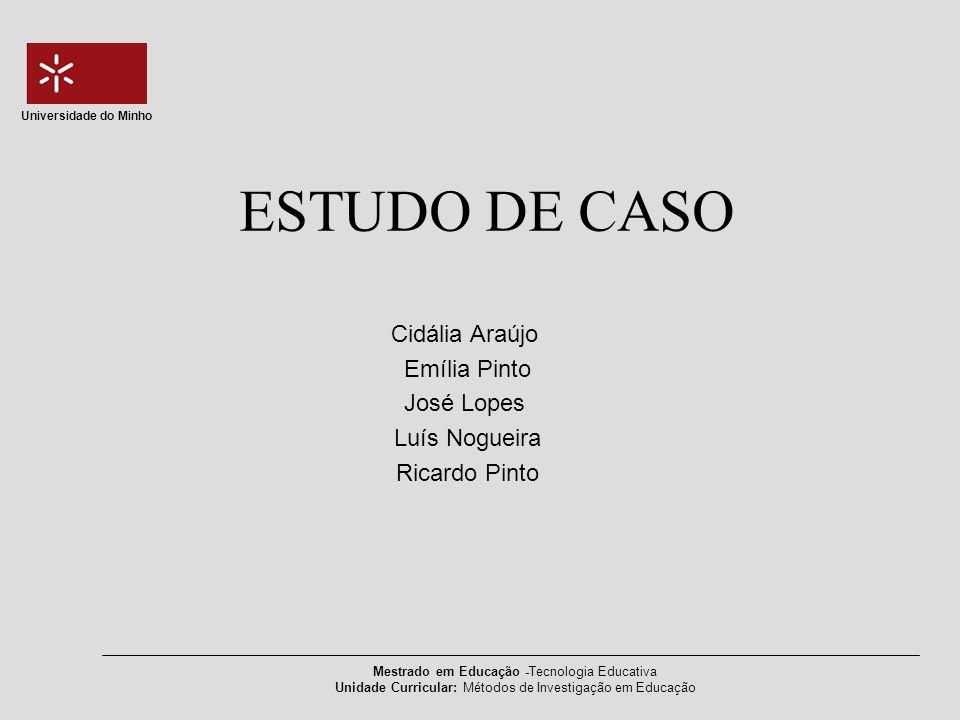 ESTUDO DE CASO Cidália Araújo Emília Pinto José Lopes Luís Nogueira