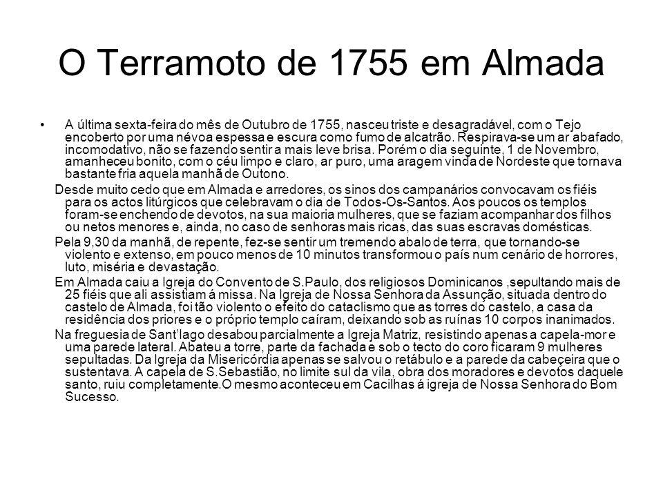 O Terramoto de 1755 em Almada