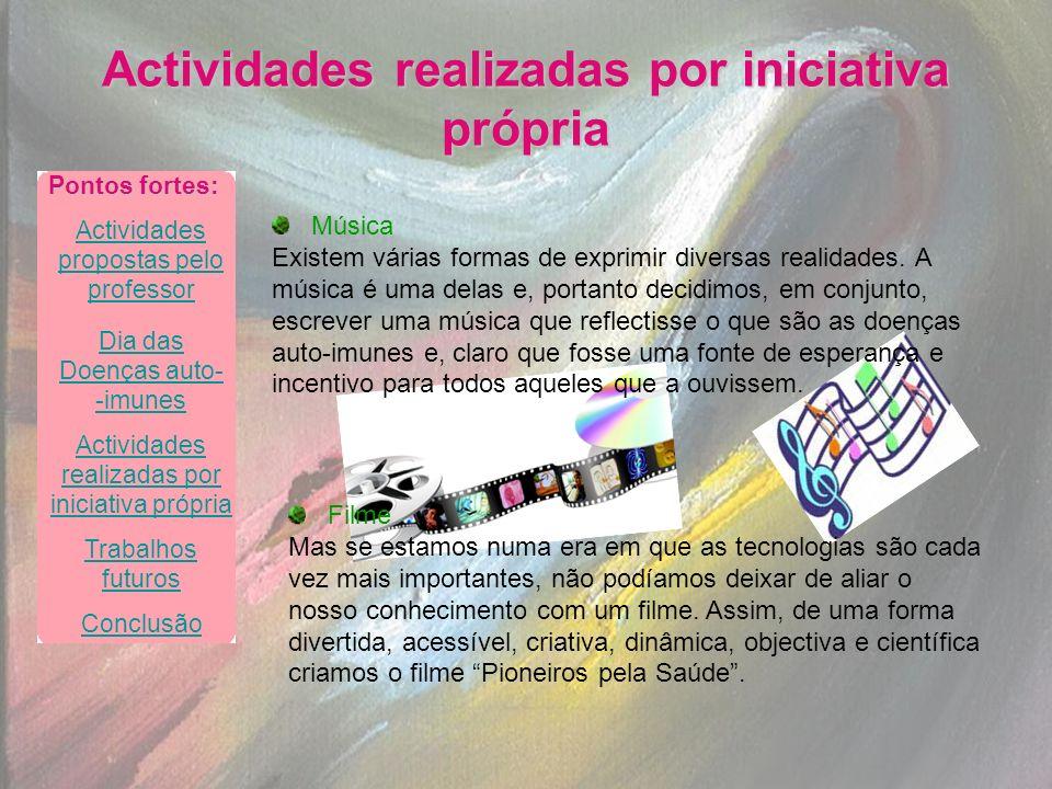 Actividades realizadas por iniciativa própria