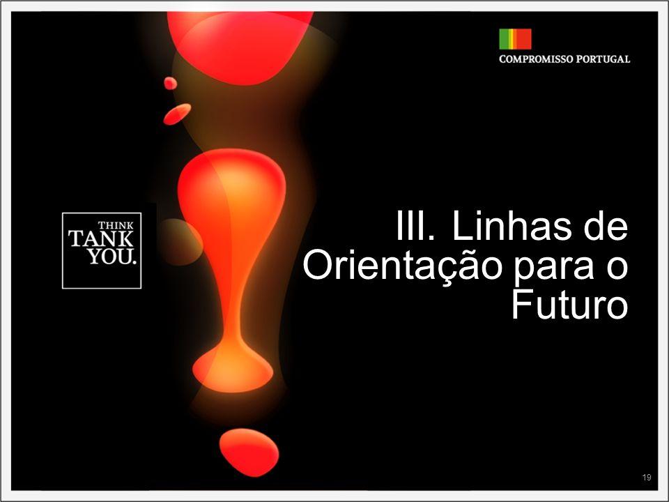 III. Linhas de Orientação para o Futuro