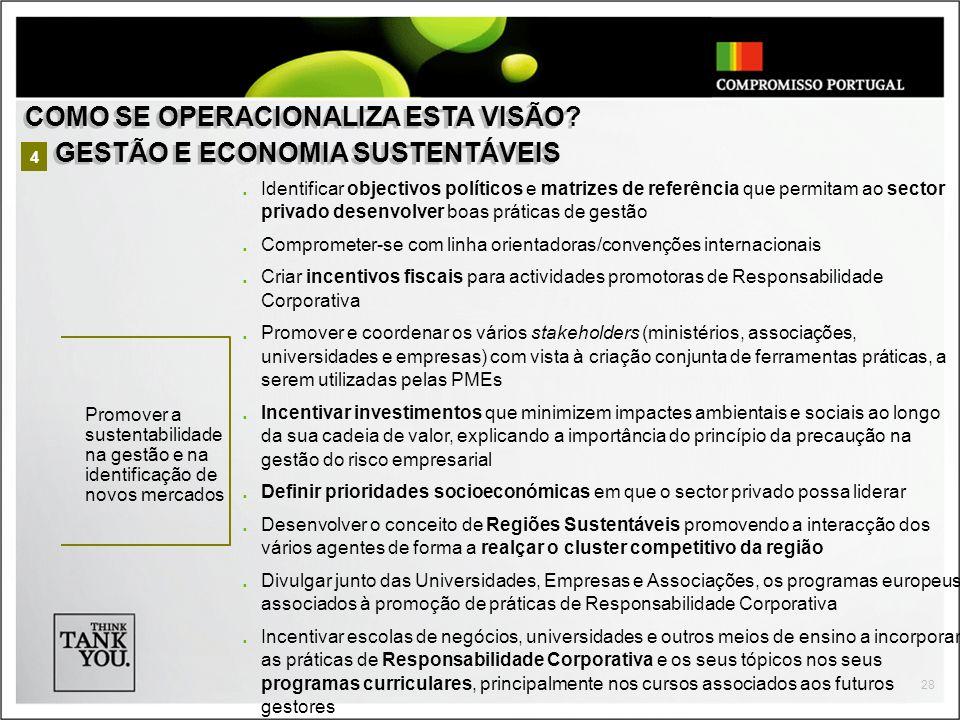 COMO SE OPERACIONALIZA ESTA VISÃO GESTÃO E ECONOMIA SUSTENTÁVEIS
