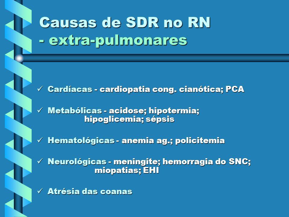 Causas de SDR no RN - extra-pulmonares