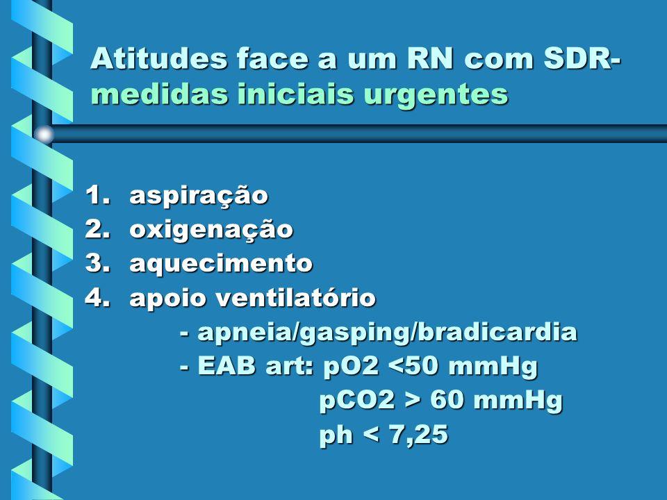 Atitudes face a um RN com SDR-medidas iniciais urgentes