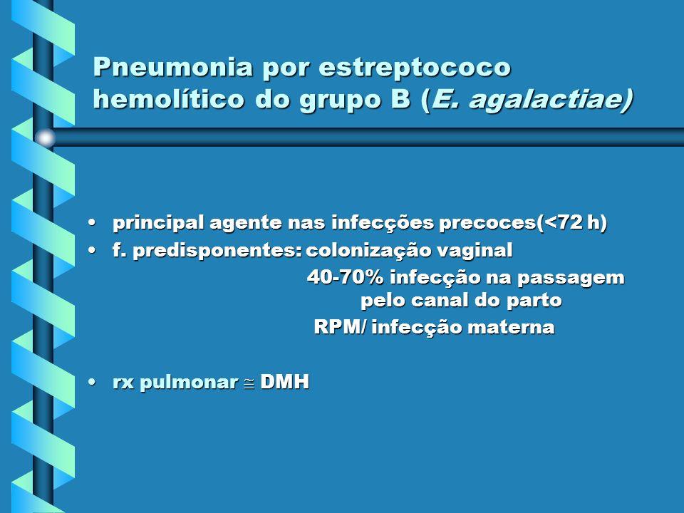 Pneumonia por estreptococo hemolítico do grupo B (E. agalactiae)