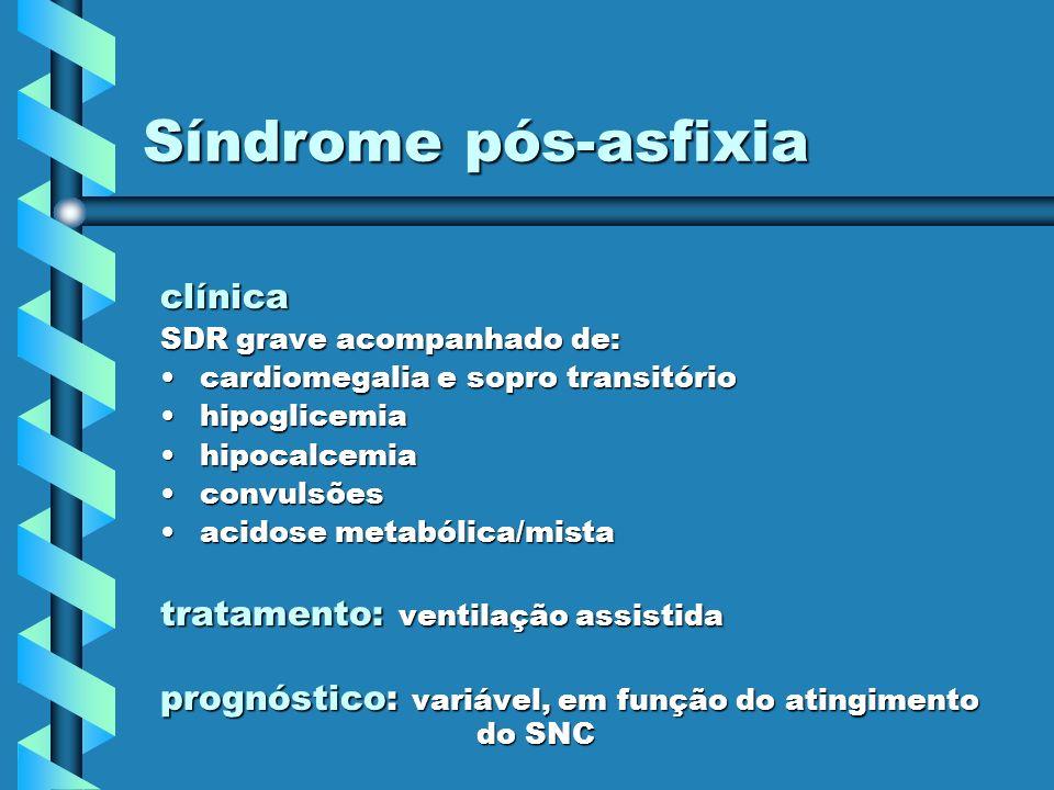 Síndrome pós-asfixia clínica tratamento: ventilação assistida