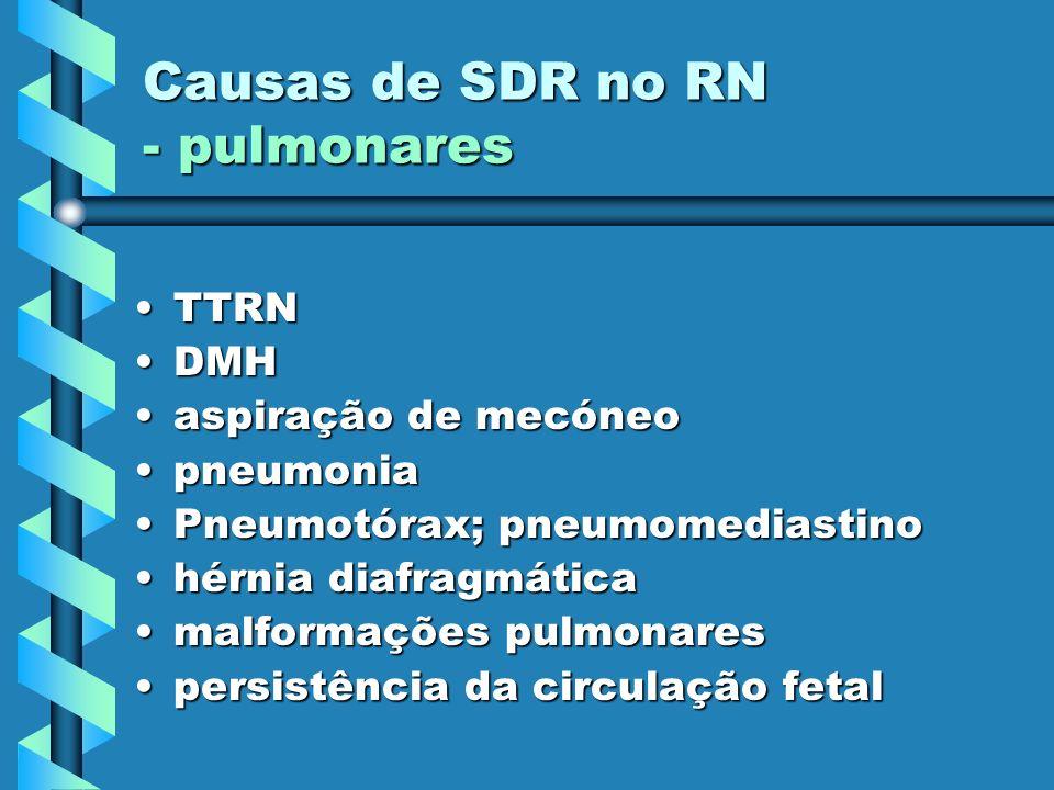 Causas de SDR no RN - pulmonares