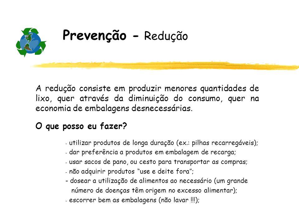 Prevenção - Redução