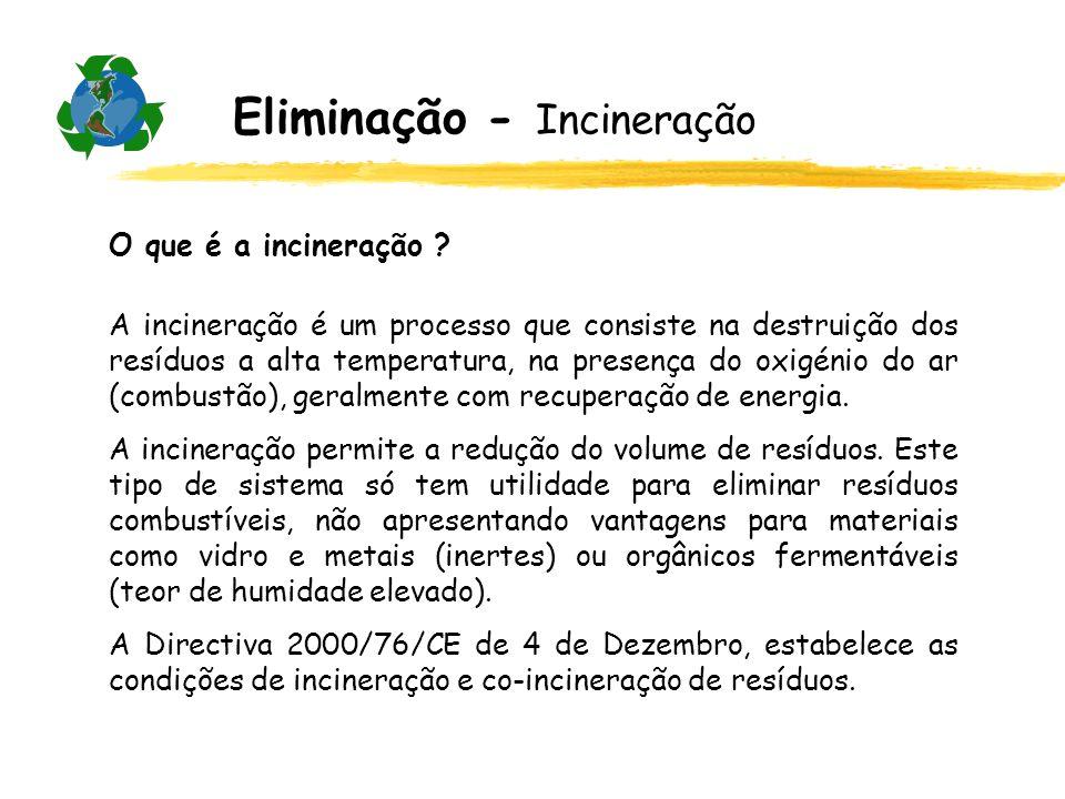Eliminação - Incineração
