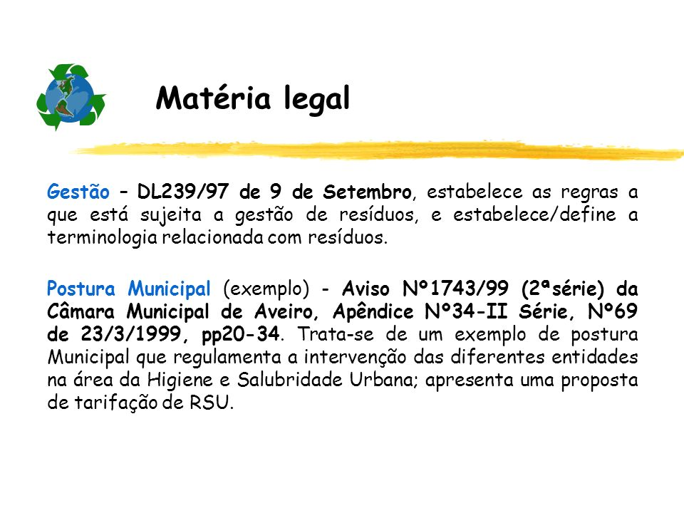 Matéria legal