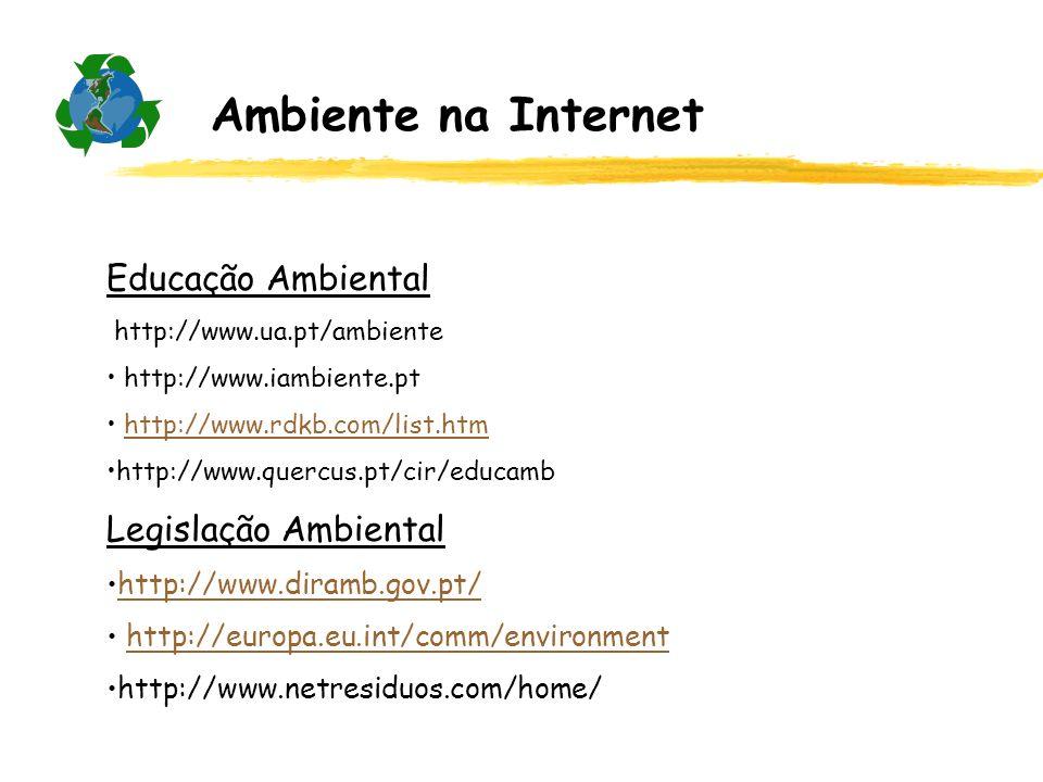 Ambiente na Internet Educação Ambiental Legislação Ambiental