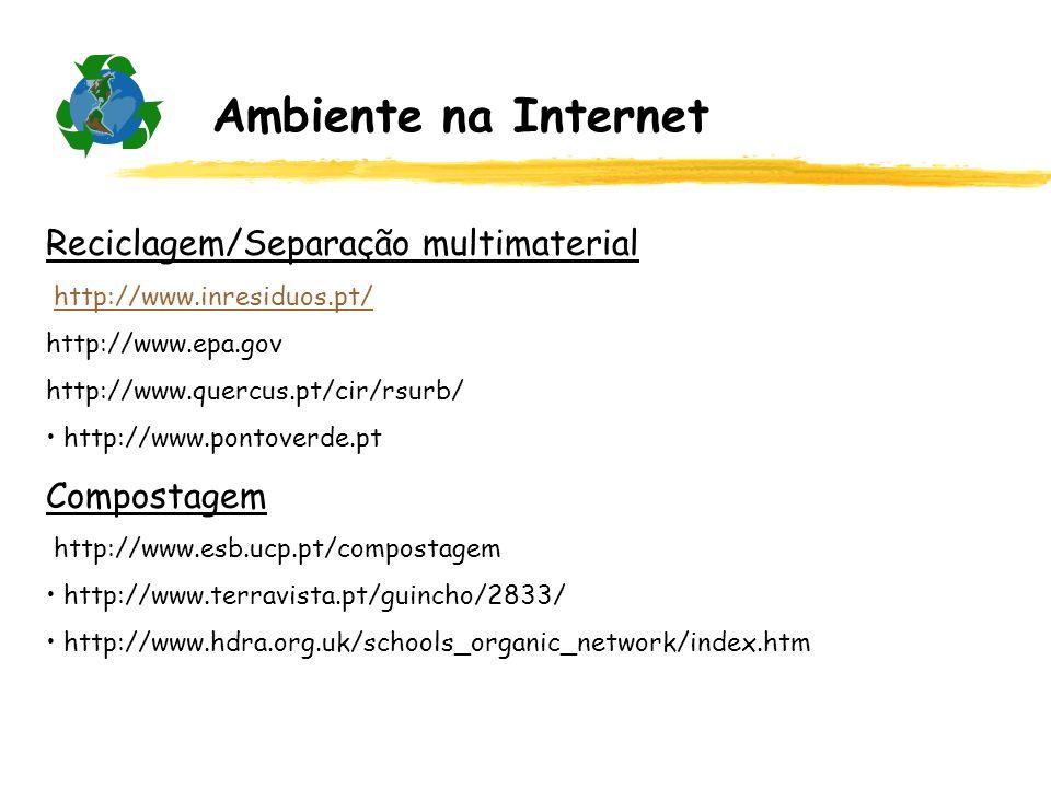 Ambiente na Internet Reciclagem/Separação multimaterial Compostagem
