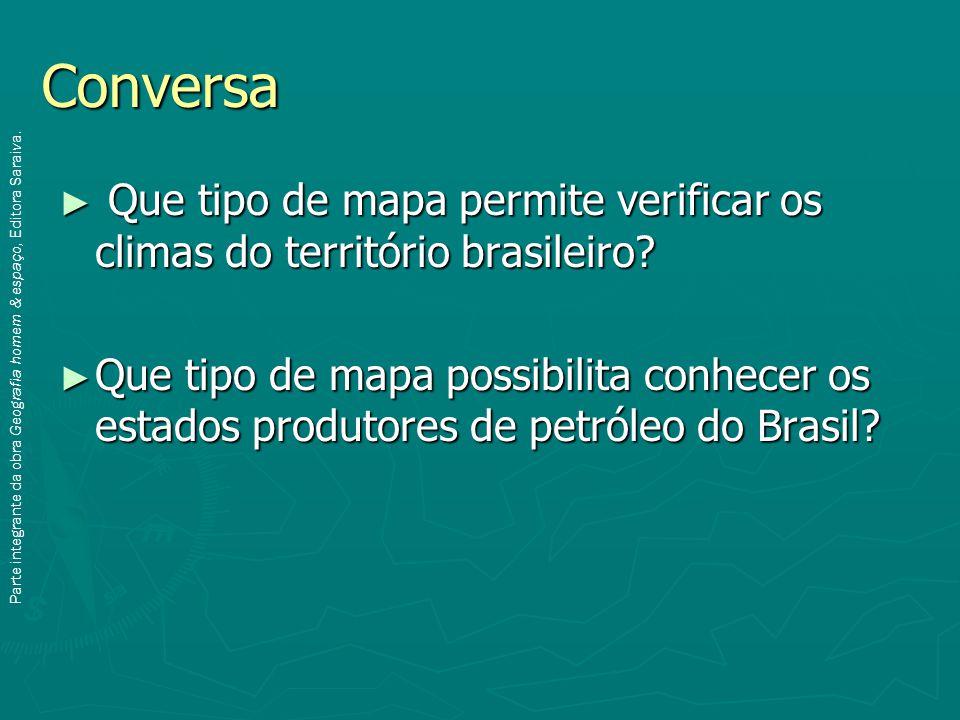 Conversa Que tipo de mapa permite verificar os climas do território brasileiro