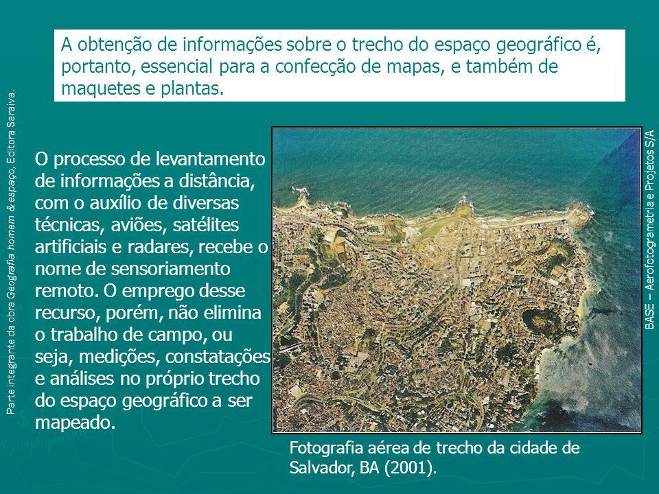 A obtenção de informações sobre o trecho do espaço geográfico é, portanto, essencial para a confecção de mapas, e também de maquetes e plantas.