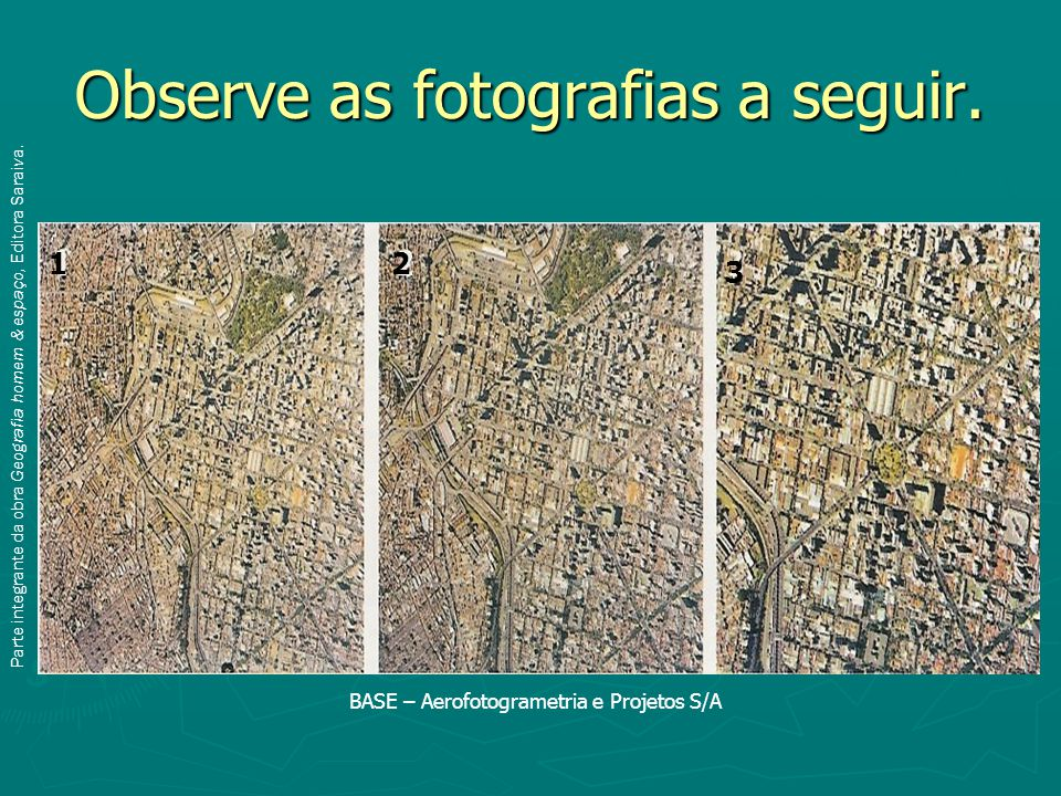 Observe as fotografias a seguir.