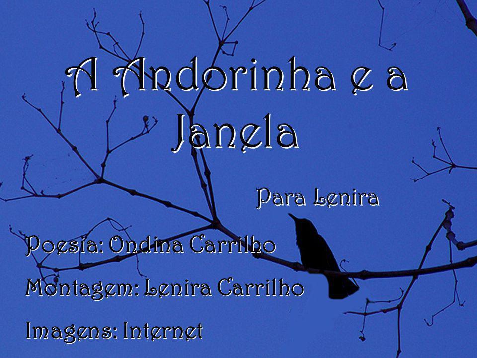 A Andorinha e a Janela Para Lenira Poesia: Ondina Carrilho